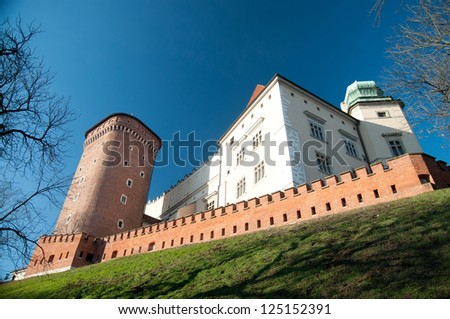 The  Wawel castle, Cracow, Poland - stock photo