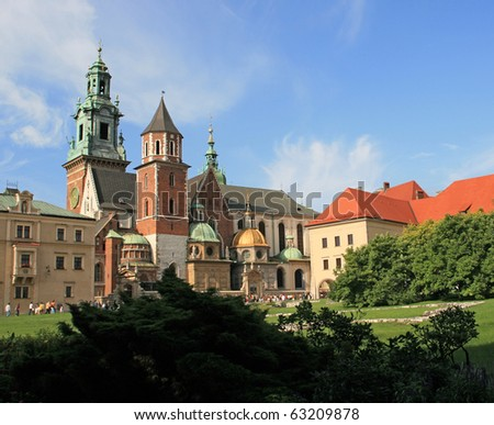 The Wawel Castle in Cracow