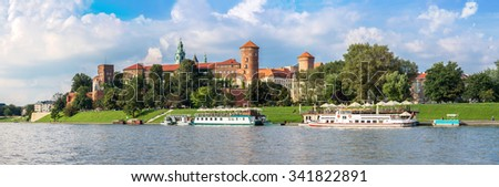 The Wawel castle in Kracow. Panoramic view