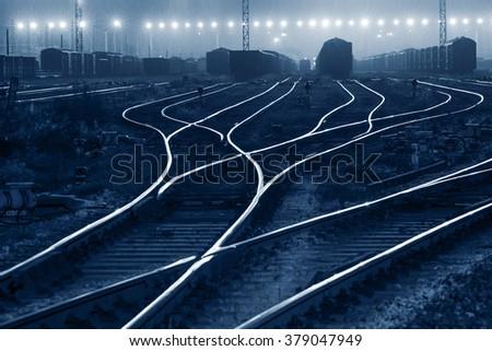 The way forward railway - stock photo