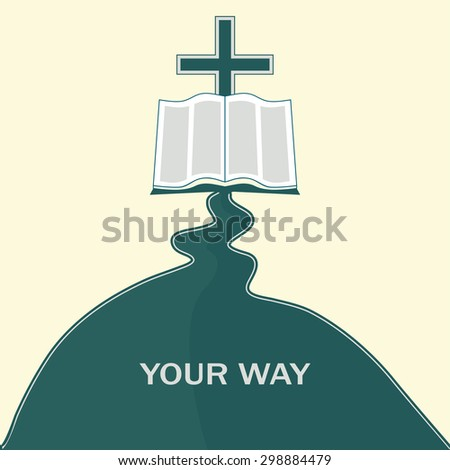 The way to Jesus Christ, through the Bible - stock photo