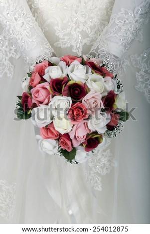 The wedding flowers - stock photo
