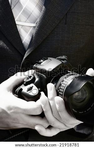 The wedding photographer - stock photo