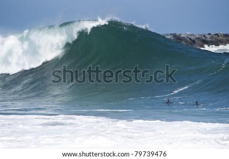 The Wedge Newport Beach - stock photo