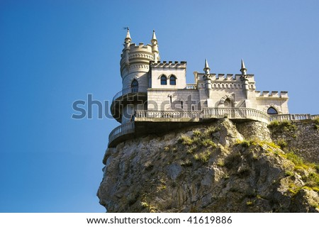 The well-known castle Swallow's Nest near Yalta in Crimea, Ukraine