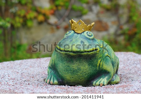 The well known character of the Russian fairy tale - the Frog Princess - stock photo