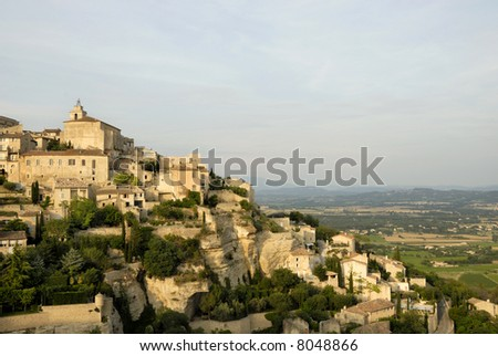 The well known city of Gordes in France - stock photo