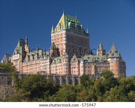 The well known Quebec city landmark - stock photo