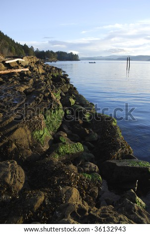 The west coast of Galiano island, British Columbia, Canada - stock photo