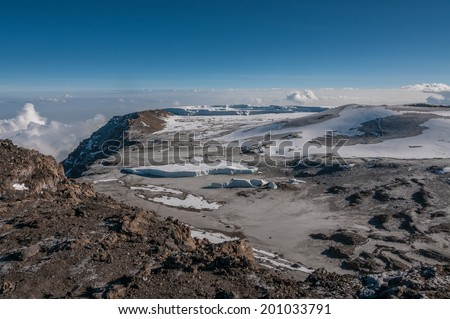 The Western Breach, Kilimanjaro - stock photo
