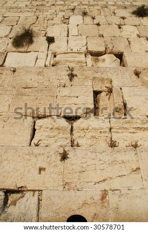 The Western Wall, Israel - stock photo
