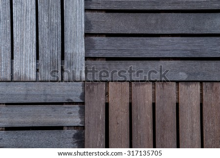 The wet  wood  ribbed planks of the batten platform. Four kinds wooden pallet. Texture of wood background closeup. wood texture with natural pattern. Seamless wood texture. old wood background. wood