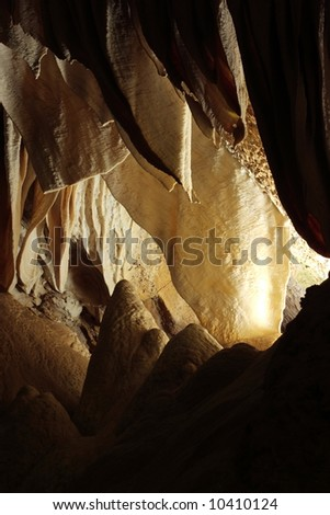 The Whale's Mouth - Natural Entrance Tour - Carlsbad Caverns National Park - stock photo