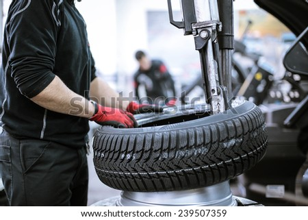 The wheel of a car  - stock photo