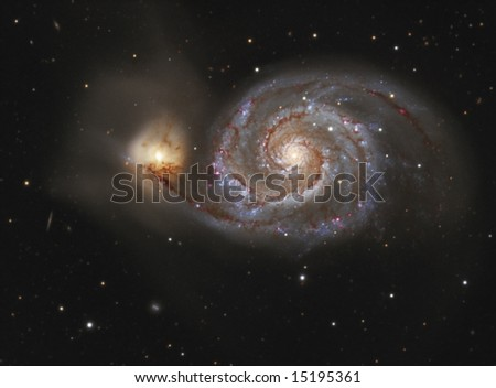 The Whirlpool Galaxy M51 - stock photo