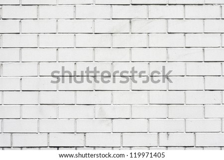 the White brick wall, perfect as a background - stock photo