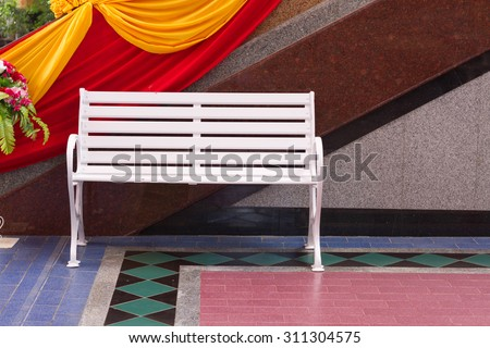 The white chair in the china temple