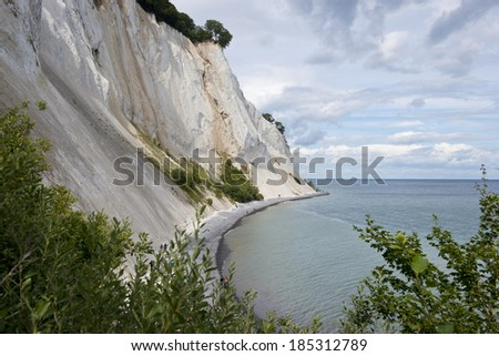 The white cliffs of Mons Klint in Denmark