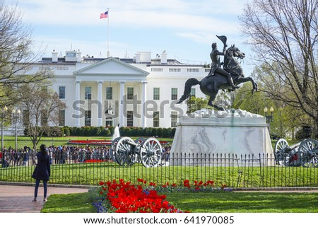 The White House - home and office of the President of the United States - WASHINGTON DC / COLUMBIA - APRIL 7, 2017