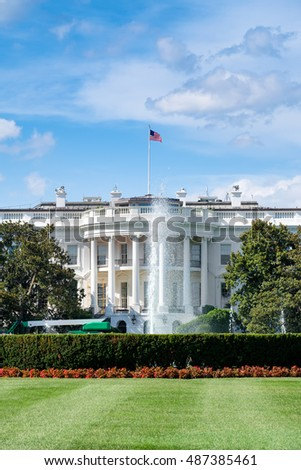 The White House, home of the US President, in Washington D.C.