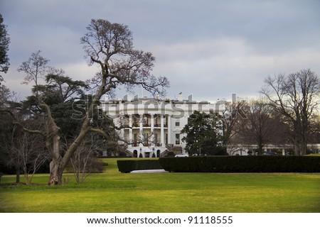 The White House in Washington DC - stock photo