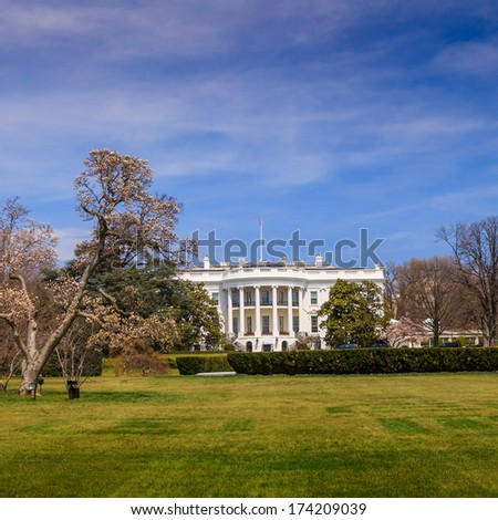 The White House in Washington DC United States - stock photo
