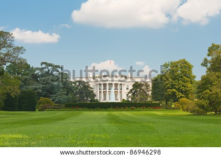 The White House in Washington; GPS information is in the file - stock photo