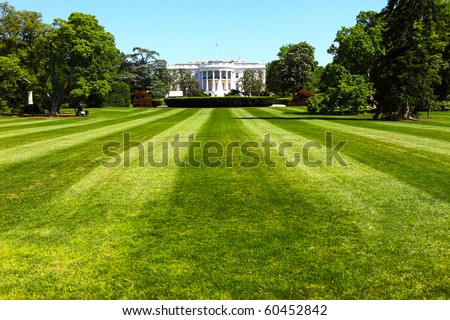 The White House, the President of the United States - stock photo