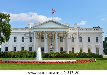 The White House - Washington DC - stock photo