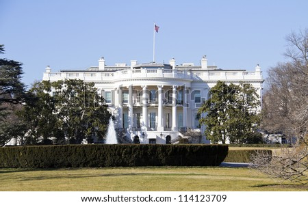 The White House - Washington DC - stock photo