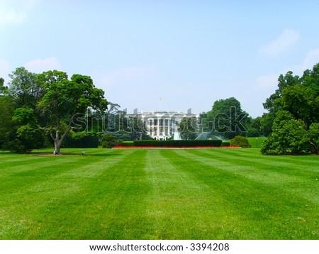 The White House Washington DC... - stock photo
