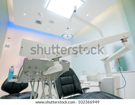 The white interior of a dentist office. Dentist office - stock photo