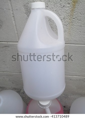 The  white  one  gallon  of  water  - stock photo