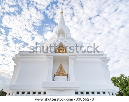 the White Pagoda in Northern of Thailand - stock photo
