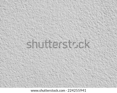 The white plastered wall