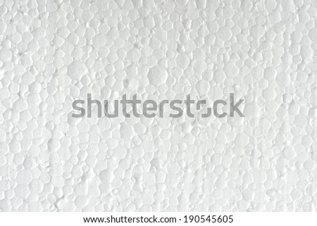 The white polystyrene texture closeup for background