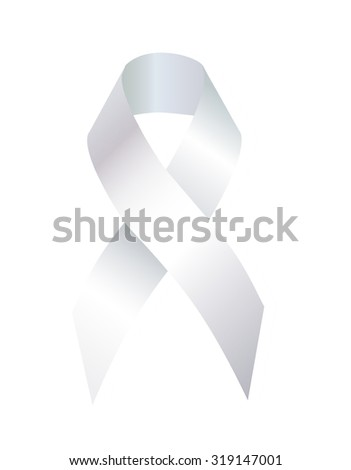 The White Ribbon   is used as a a symbol of the social movement for safe motherhood, sobriety, domestic violence, suicide teen gay for Fair Elections Awareness - stock photo