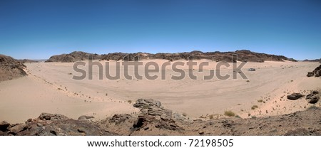The white sand desert in the Skeleton Coast - stock photo