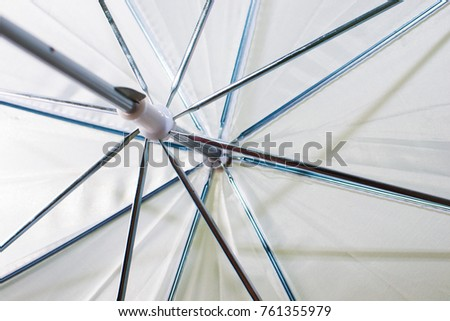 the white umbrella of the photographer from the inside.
