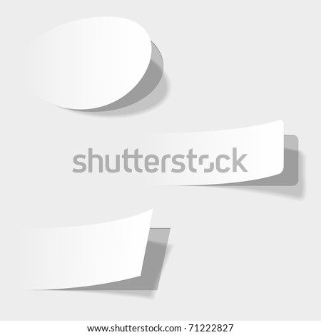 The white vector illustration of advertising coupons . Look for vector version at my portfolio. - stock photo