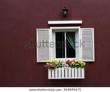 The White window. - stock photo