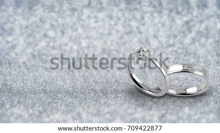 Wide Banner Two Ring Wedding Bands Stock Photo Image Royalty Free
