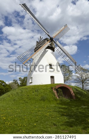 The windmill Heimsen (Petershagen, Germany) is a dutch type of windmill and is part of the Westphalia Mill Street (Westfaelische Muehlenstrasse).