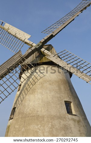 The windmill Hille (Northrhine Westphalia) is a dutch type of windmill and is part of the Westphalia Mill Street (Westfaelische Muehlenstrasse).