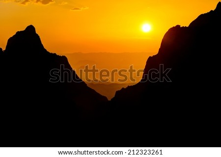 The Window at Big Bend National Park in Texas - stock photo