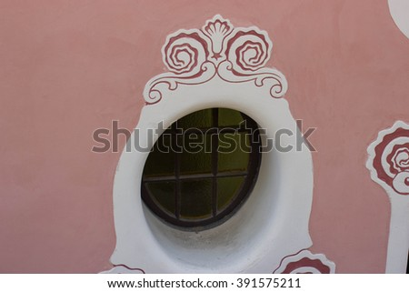 The window in Park Guell, Barcelona - stock photo