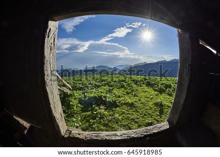 Cazare Cu Piscina In Maramures stock-photo-the-window-to-silence-maramures-romania-the-maramures-mountains-near-the-pop-ivan-peak-a-house-645918985