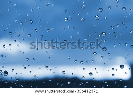 the window with raindrops; background
