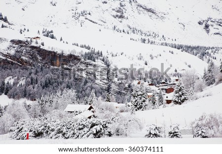 The winter Alpine ski resort