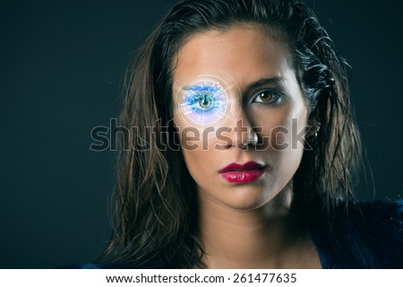 The woman of the future - stock photo